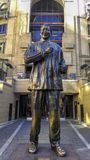 Nelson Mandela statue in South Africa royalty free stock images