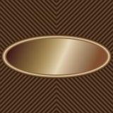 Bronze oval etikett Fotografering för Bildbyråer