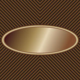 Bronze oval label. Illustration of a unique patterned product label Stock Image