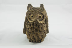 A bronze owl paperweight. A bronze owl decorative paperweight Stock Image