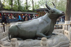 Bronze ox (Tongniu)  in summer palace Royalty Free Stock Photos