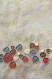 Bronze paint with glass pebbles - mosaics Royalty Free Stock Photo