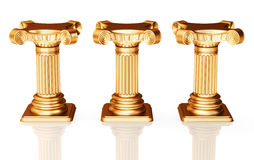 Bronze pedestals Royalty Free Stock Photography