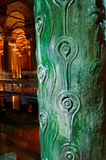 Bronze pillar in Basilica Cistern Royalty Free Stock Image