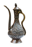 Bronze pitcher. The bronze pitcher on the white background Stock Images