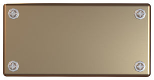 Bronze placard. With clipping path vector illustration