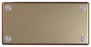 Bronze placard Stock Image