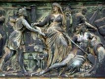 Bronze Plaque, Building Facade, Dresden Stock Photography