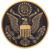 Bronze plaque the great seal of the us Stock Photography