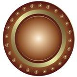 bronze platta royaltyfri illustrationer