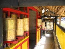 Bronze prayer wheels Royalty Free Stock Photo