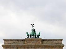 Bronze quadriga on brandenburg gate Royalty Free Stock Photo