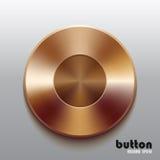 Bronze record button Stock Image