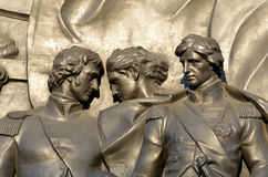Bronze Relief Royalty Free Stock Photography