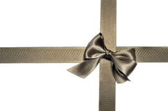 Bronze ribbon bow Stock Photography