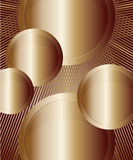 Bronze round banners of different sizes Stock Photography