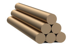 Bronze round bars Royalty Free Stock Image