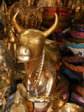 Bronze sacred cow in a shop at kathmandu, Nepal Royalty Free Stock Image