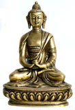 Bronze satue of buddha Royalty Free Stock Photo