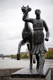Bronze sculpture, Basel, Switzerland Stock Photos