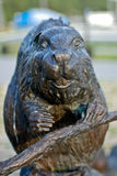 Bronze sculpture of a beaver Royalty Free Stock Image