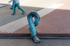 Bronze sculpture in Bern. Leg Royalty Free Stock Images