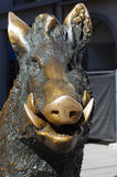 Bronze sculpture of a boar Royalty Free Stock Photography