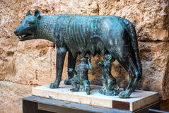 Bronze sculpture of Capitoline Wolf Royalty Free Stock Photo