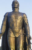 Bronze sculpture of Christopher Columbus, Coit Tower, San Francisco, California Royalty Free Stock Photography