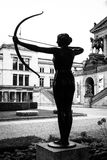 A bronze sculpture in front of Alte Nationalgalerie Royalty Free Stock Photo