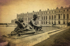Bronze sculpture at the garden of Versailles palace, France 1 Royalty Free Stock Image