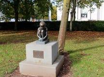 Bronze sculpture of girl Royalty Free Stock Photos