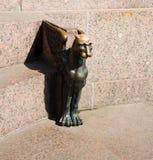 Bronze sculpture of Griffin Stock Photos