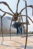 Bronze sculpture and Guggenheim Museum in Bilbao Royalty Free Stock Photos