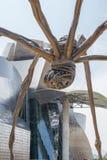 Bronze sculpture and Guggenheim Museum in Bilbao Royalty Free Stock Image