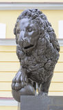 Bronze sculpture of lion Royalty Free Stock Photos
