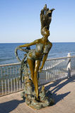 Bronze sculpture of a mermaid  Royalty Free Stock Photography