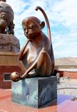 Bronze sculpture Monkey symbol of the Chinese zodiac stock photo