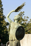 Bronze sculpture at Monumental Cemetery, Milan Stock Image