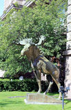 Bronze sculpture of a moose Stock Image