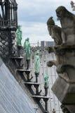 Bronze sculpture at Notre Dame de Paris. France Stock Photos