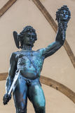 Bronze sculpture of Perseus in Florence, Italy. Bronze sculpture of Perseus with the Head of Medusa at the Piazza della Signoria, Florence, Italy, made by royalty free stock photography