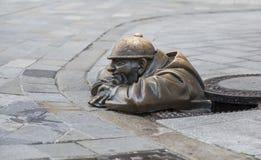 Bronze sculpture of a plumber Royalty Free Stock Photos