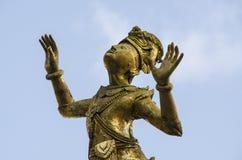 Bronze sculpture. Of prince praying in Katmandu, Nepal stock images