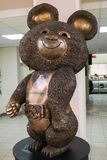 Bronze sculpture of the Russian Bear mascot of the 1980 Moscow Olympic Games the XXII Summer Olympics. Russia, Moscow. Misha, also known as Mishka or The royalty free stock photo