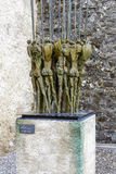 Bronze sculpture, Spearmen, by Nag Arnoldi Royalty Free Stock Images