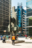 Bronze sculpture Sunlife in Toronto, Canada Royalty Free Stock Photo