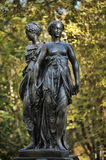 A bronze sculpture of the Three Graces Royalty Free Stock Photos