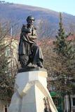 Bronze sculpture to famous Russian poet Lermontov. Pyatigorsk, R Royalty Free Stock Photos