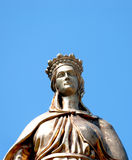 Bronze sculpture of the Virgin Mary. In Selcuk, Ephesus, near Izmir, Turkey Stock Photo